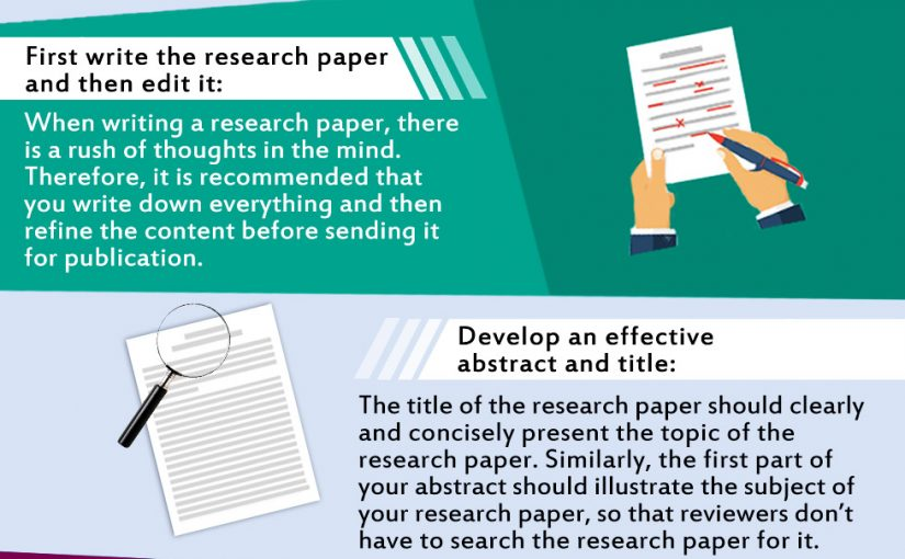 Some useful tips to get published in a journal