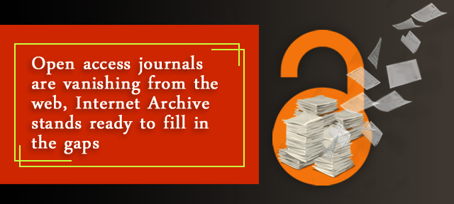Open access journals are vanishing from the web, Internet Archive stands ready to fill in the gaps