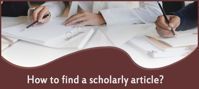 How to find a scholarly article?