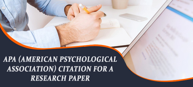 APA (American Psychological Association) Citation for a Research Paper