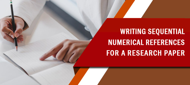 Writing Sequential Numerical References for a Research Paper